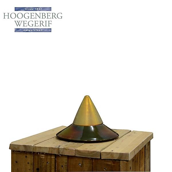 kleine keramiek urn met goudkleurig deksel