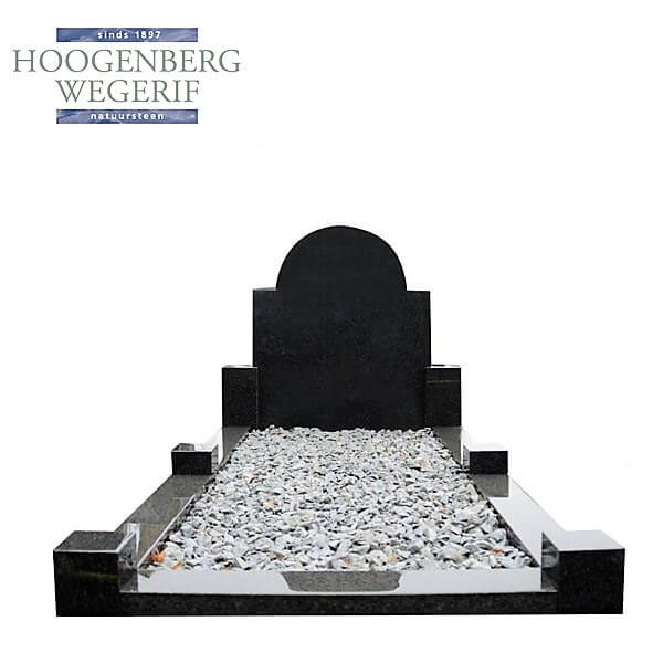 Laag geprijsd grafmonument donker graniet
