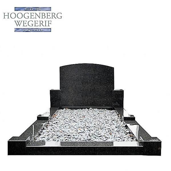 Goedkope grafsteen klassiek grafmonument donker graniet