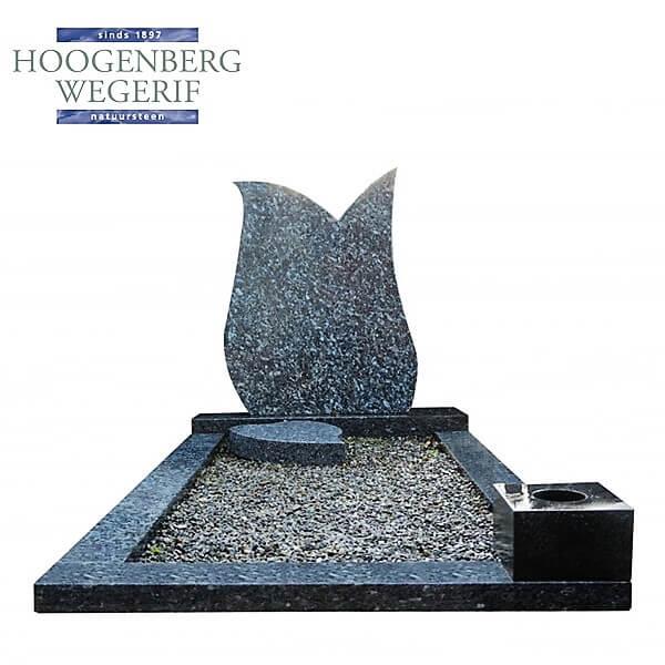 Grafsteen licht labrador graniet, voordelig geprijsd grafmonument