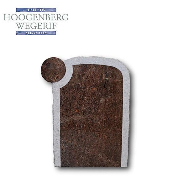 Grafsteen exclusief Zweeds rood graniet met handmatige bewerking