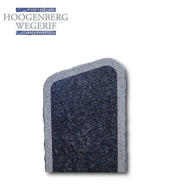 Blauw labrador graniet gedenksteen met bewerkte rand