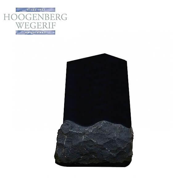Gedenksteen zwart graniet Obelisk vorm