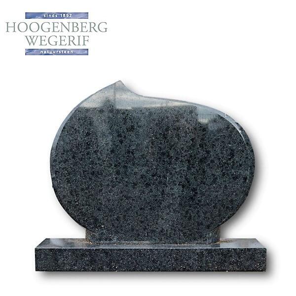 Gedenksteen zwart groen gepolijst graniet