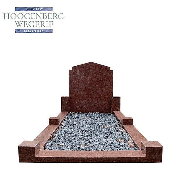 Gepolijst rood graniet grafmonument