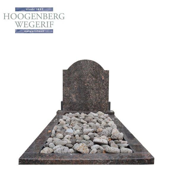 Grafsteen Apeldoorn donkerbruin graniet