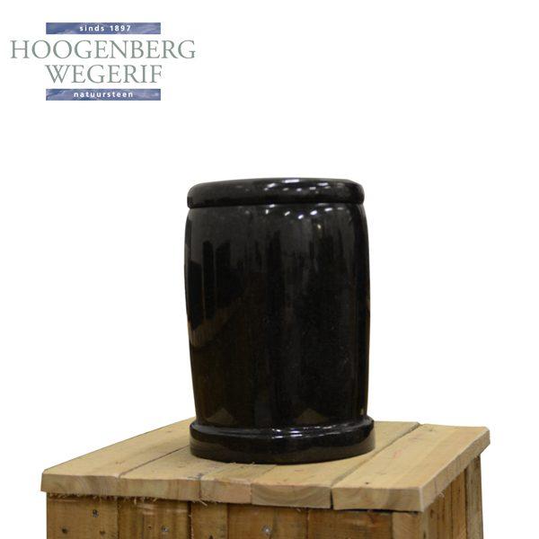 Gepolijst zwart graniet urn
