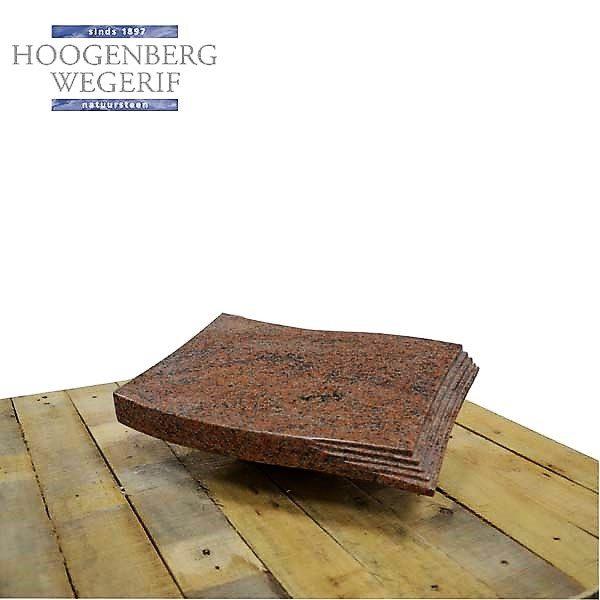Graniet boek gepolijst rood graniet