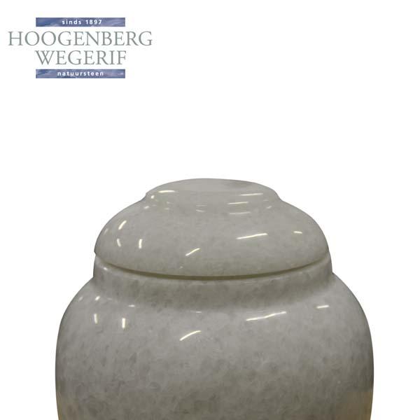 Wit marmer urn