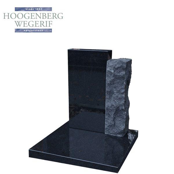 Urn monument zwart graniet