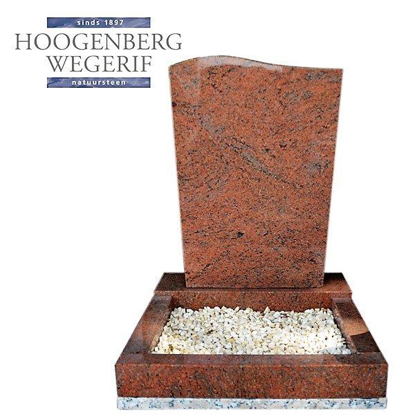 rood graniet urn monument