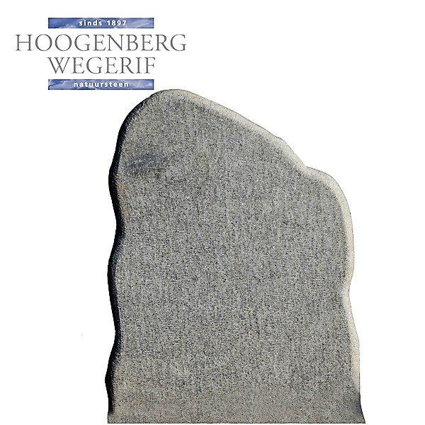 Grafsteen donker bewerkt graniet