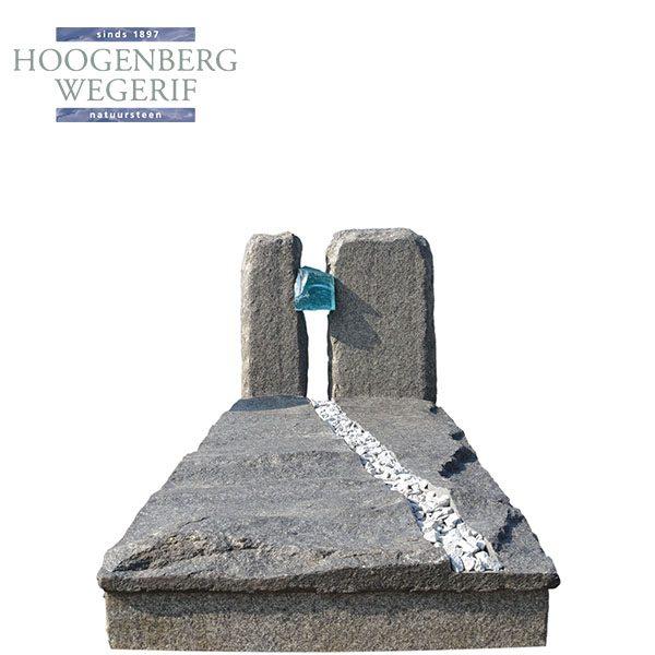 circle stone grijs graniet grafmonument