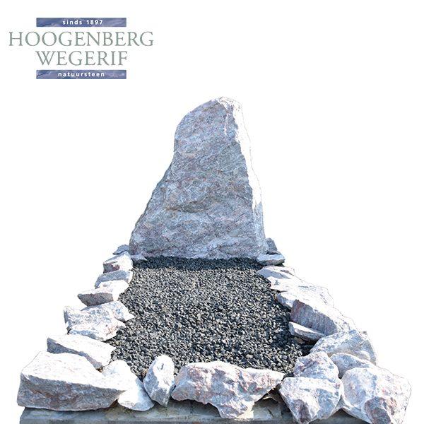 Witte ruwe kwartsiet steen met brokken omranding