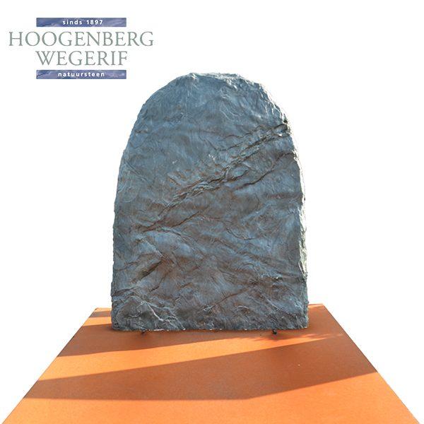 kwartsiet steen met cortenstaal